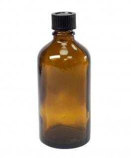 Braunglas-Flasche 100 ml mit DIN18 Gewinde & Deckel