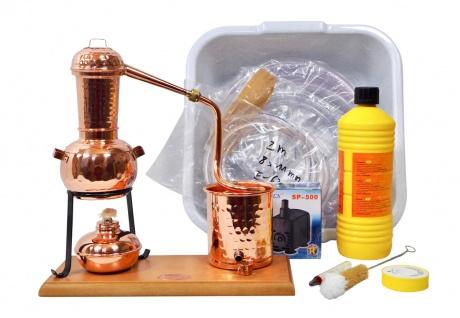 CopperGarden® Destillieranlage ARABIA 0, 5 Liter - Tischbrennerei im Sorgenfrei Paket mit allem Zubehör