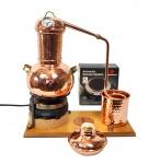 """"""" CopperGarden"""" Tischdestille Arabia 2 Liter ? elektrisch ? mit Thermometer & Aromasieb"""