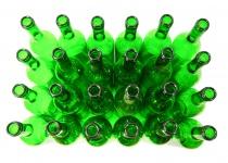 24 x Weinflaschen Bordeaux ? 0, 75 Liter ? grün