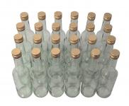 24 x Spirituosenflasche ? 0, 35 Liter ? Klarglas inkl. Schraubdeckel