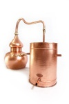 CopperGarden® Destille Alembik lifetime Supreme, 30L & Thermometer
