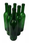 """6 x Weinflasche """" Bordeaux"""" ? 0, 75 Liter ? grün"""