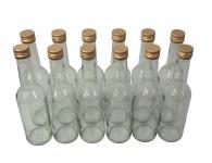 12 x Spirituosenflasche ? 0, 35 Liter ? Klarglas inkl. Schraubdeckel