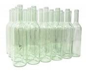 24 x Weinflasche Bordeaux 0, 75L, Klarglas