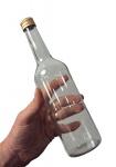 Spirituosenflasche (0, 35 L) Klarglas inkl. Schraubdeckel