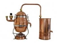 """MS"""" Wasserbad-Destille """" Hobby"""" 1, 2 Liter ? mit Spiritusbrenner"""