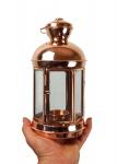 """"""" CopperGarden"""" Laterne aus Kupfer & Glas (24 cm) - sehr dekorativ und standfest"""