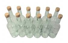 12 x Spirituosenflasche ? 0, 5 Liter ? mit goldenem Schraubdeckel