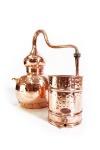 """"""" CopperGarden"""" Destille Alembik 30 Liter, genietet"""