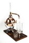 """"""" Ferrari"""" Destillieranlage Kristall 1 Liter mit Thermometer"""