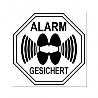 Aufkleber Stop Alarm gesichert 5cm Sticker für Außenseite Rollladen Fenster etc.