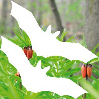 Fledermaus Aufkleber Tattoo 20cm weiß Vampir Warnvogel Vogel Vögel Warnvögel