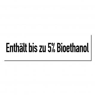 Aufkleber Sticker Tankstelle Zapfsäule Benzin Enthält bis zu 5% Bioethanol