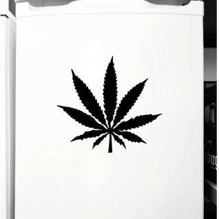 1 Hanf Blatt 15cm schwarz THC Gras Pflanze Marihuana Aufkleber Tattoo Deko Folie - Vorschau 3