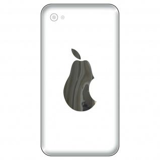 6 Aufkleber 6cm chrom Birne VS Apple smartphone Handy Deko Folie 4061963039083