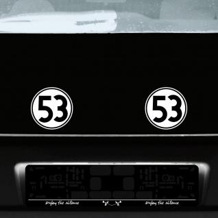 2 Aufkleber 15cm Herbie Nr 53 Start Nummer Ziffer Zahl Racing Auto Motor Sport - Vorschau 4