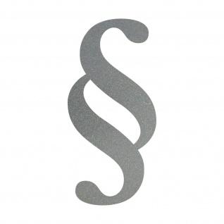 Paragraph 10cm silber Zeichen Symbol Gesetz Anwalt Kanzlei Aufkleber Tattoo Deko