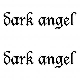 2 Stück Dark Angel 15cm Aufkleber Tattoo die cut Auto Heck Tuning Deko Folie