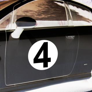 2 Aufkleber 20cm Sticker Start Nummer 4 Ziffer Zahl Racing Auto Motor Sport Kart