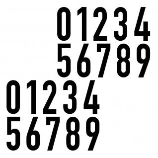 20 Aufkleber 6cm schwarz DIN 1451 Ziffern Zahlen Nr Hausnummer Verkehrsschrift
