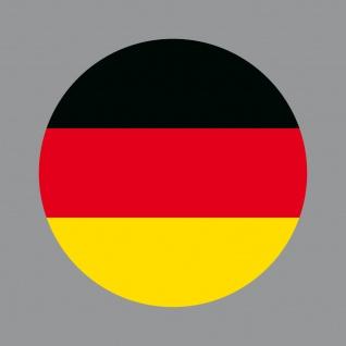 Aufkleber 10cm rund Sticker BRD Deutschland Flagge Fahne Fußball Fan EM WM Deko