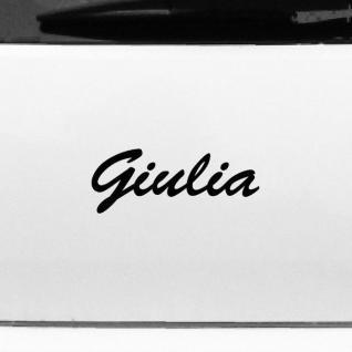 Giulia 20cm Kinderzimmer Name Aufkleber Tattoo Deko Folie Auto Fenster Schrank