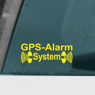5 Aufkleber Tattoo GPS Alarm System gelb Auto Schaufenster Außen getönte Scheibe