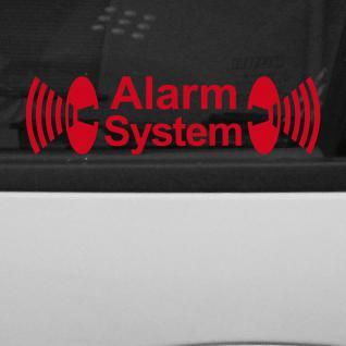 2 Stk Alarm System rot Aufkleber Tattoo Folie Balkon Fenster Innenseite Scheibe