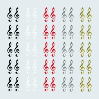 10 Aufkleber 4cm Tattoo Violinschlüssel Notenschlüssel Zeichen Symbol Deko Folie