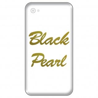 2 Aufkleber 6cm gold metall Black Pearl Handy smartphone iPhone Tattoo Dekofolie