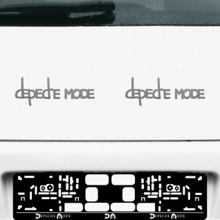2 Aufkleber Tattoo 20cm silber Exciter Depeche Mode Auto Fenster Tür Deko Folie