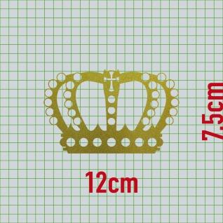 Perlen Krone 12cm gold Aufkleber Tattoo König Deko Folie Auto Möbel Fenster Tür