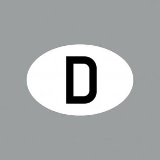 Aufkleber 8cm Sticker D klein Länderkennung BRD Länderkennzeichen 4061963088463