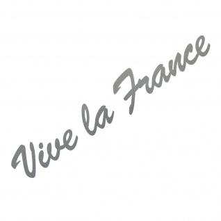 20cm silber Vive la france Schriftzug Aufkleber Tattoo Auto Tür Fenster Folie