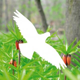 5 Aufkleber 20cm weiß Vogel Fenster Glas Tattoo Warnvögel Vogel Schutz Schreck