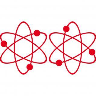 2 Aufkleber Tattoo rot 17cm big bang theory Atom ipad Auto Decal Deko Folie