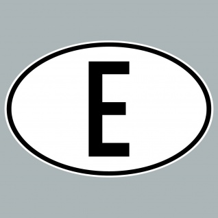 E Aufkleber Sticker Spanien Länderkennung Länderkennzeichen 4061963019832
