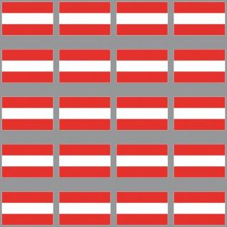 20 Aufkleber 3cm Österreich AUT Länder Flagge Fahne RC Modellbau Mini Sticker