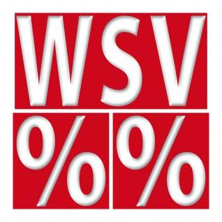 3 Aufkleber Set Sticker WSV 20cm + Prozente 10cm Winter Sale Schluss Aus Verkauf