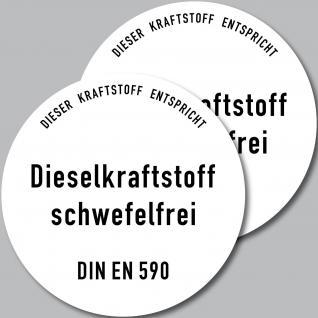 2 Aufkleber 10cm Sticker DIESEL schwefelfrei DIN EN 590 Tankstelle Zapfsäule