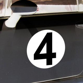 2 Aufkleber 20cm Start Nummer 4 Ziffer Zahl Sticker Racing Auto Motor Sport Kart