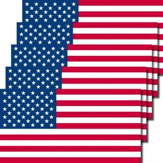 5 Aufkleber 6, 5cm Sticker USA Amerika US Flag Fußball Fan EM WM Flagge Fahne