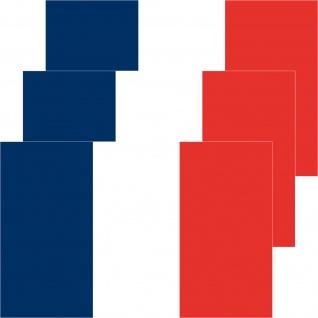 3 Aufkleber 8, 5cm Sticker FRA Frankreich EM WM Fußball National Flaggen Fahnen