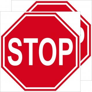 2 Aufkleber 10cm Sticker STOP Schild Hinweis Warnung Tür Arzt Praxis Maschinen