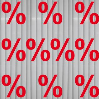 Aufkleber % Prozent Zeichen Symbol Tattoo Schaufenster Deko Folie Rabatt Angebot
