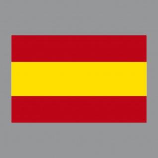Aufkleber 8, 5cm Sticker ESP Spanien Spain Flagge Fahne Fußball Fan EM WM Deko