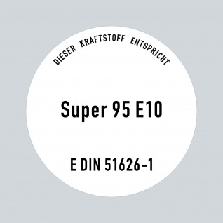 Aufkleber 10cm Super Benzin 95 E10 Kraftstoff Tankstelle Sticker Tank Zapfsäule - Vorschau 3