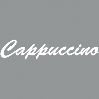 Cappuccino 37cm weiß Schriftzug Wandtattoo Aufkleber Tattoo Deko PVC Klebefolie