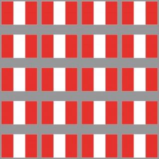 20 Aufkleber 3cm Peru PER PE Länder Fahne Flagge Mini Sticker RC Modellbau Deko